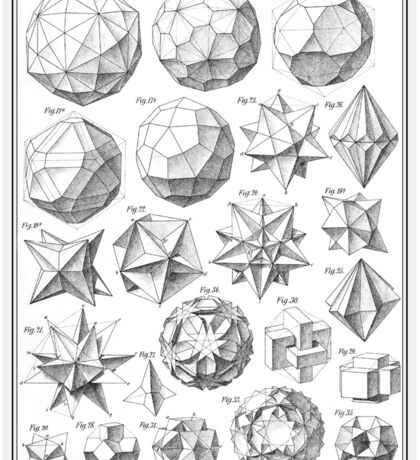 Max Bruckner 1906 polyhedra & icosahedron models Sticker