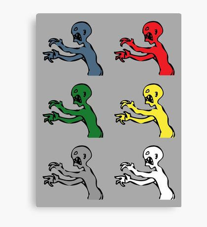 Grr. Argh. Colours  Canvas Print