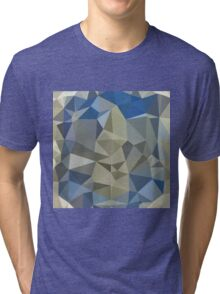 Cornflower Blue Abstract Low Polygon Background Tri-blend T-Shirt