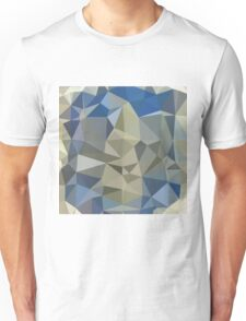 Cornflower Blue Abstract Low Polygon Background Unisex T-Shirt