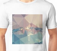 Opera Mauve Abstract Low Polygon Background Unisex T-Shirt