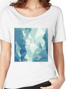Turquoise Green Abstract Low Polygon Background Women's Relaxed Fit T-Shirt