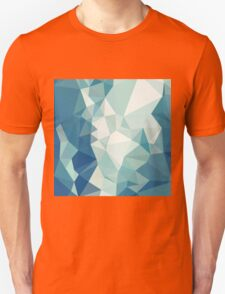 Turquoise Green Abstract Low Polygon Background Unisex T-Shirt