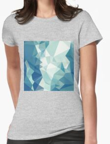 Turquoise Green Abstract Low Polygon Background Womens Fitted T-Shirt