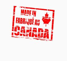Made in/ Fabriqué au Canada rubber stamp effect  Womens Fitted T-Shirt