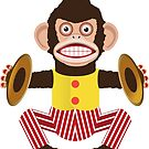 Monkey with cymbals. by Mrdoodleillust