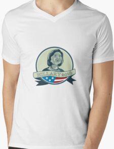 Hillary Clinton President 2016 Circle Mens V-Neck T-Shirt
