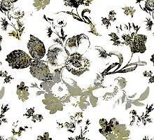 Inked Toile Wild Rose in Green by Circe Lucas