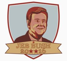 Jeb Bush President 2016 Shield by retrovectors