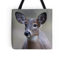 Deer girl...so forlorn - White-tailed Deer Tote Bag