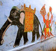 Varanasi Mural by elusiveradiance