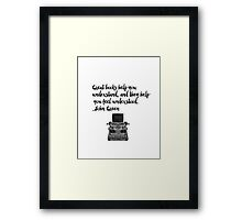 John Green Framed Print
