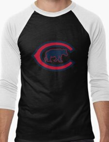 Chicago Cubs logo Men's Baseball ¾ T-Shirt