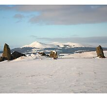 Bourtie Recumbent stone circle and Bennachie by R John Hughes