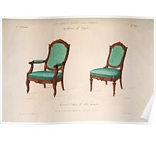 Le Garde Meuble Desire Guilmard 1839 0119 High Style Seat Furniture Interior Design Poster