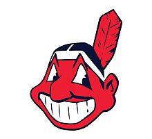 Cleveland Indians logo Photographic Print