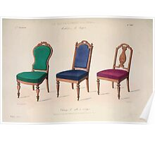 Le Garde Meuble Desire Guilmard 1839 0121 High Style Seat Furniture Interior Design Poster