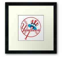 New York Yankees logo Framed Print