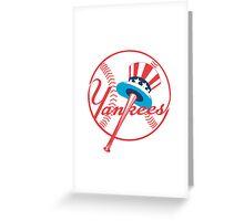 New York Yankees logo Greeting Card