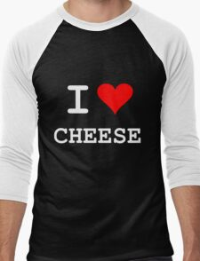 I Love Cheese Men's Baseball ¾ T-Shirt