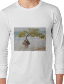 Oil Painting Seaside Tree Long Sleeve T-Shirt