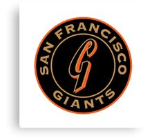 San Francisco Giants logo Canvas Print