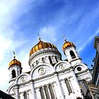 Cathederal Of Christ The Saviour - Moscow, Russia by J J  Everson