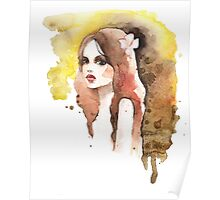 Romantic girl. Colored Poster