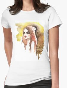 Romantic girl. Colored Womens Fitted T-Shirt