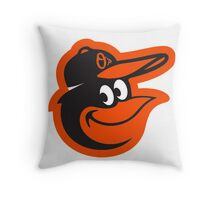 Baltimore Orioles logo1 Throw Pillow