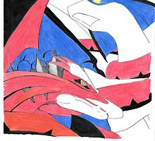 Blue VS Red Dragon by JumpingTracks