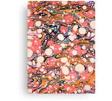 Psychedelic Retro Marbling Paper Canvas Print
