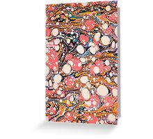 Psychedelic Retro Marbling Paper Greeting Card