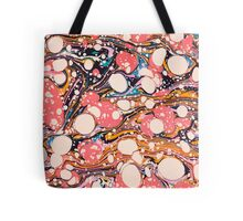 Psychedelic Retro Marbled Paper Tote Bag