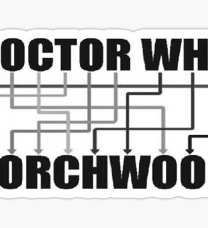 Doctor Who And Torchwood Sticker