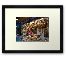 Christmas  Pretzels for sale... Framed Print