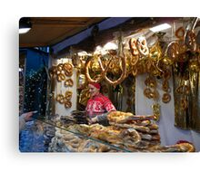 Christmas  Pretzels for sale... Canvas Print