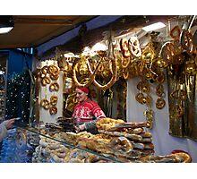 Christmas  Pretzels for sale... Photographic Print