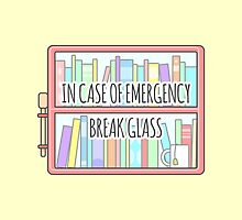 Emergency Bookshelf by sombrasblancas
