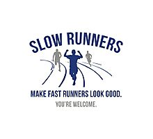 Slow Runners Photographic Print