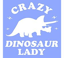Crazy Dinosaur Lady Photographic Print