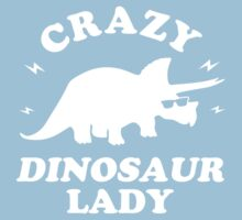 Crazy Dinosaur Lady Kids Tee