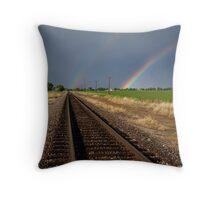 Railway to Heaven Throw Pillow