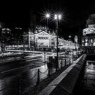 Flinders Street, Melbourne by Malcolm Katon