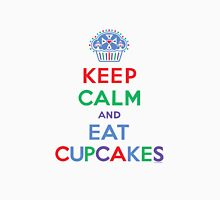 Keep Calm and Eat Cupcakes - primary Womens Fitted T-Shirt