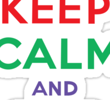 Keep Calm and Eat Cupcakes - primary Sticker