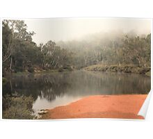 Misty Morning, Bridgetown, Western Australia Poster