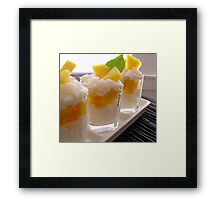Sticky Rice & Mango Shots Framed Print
