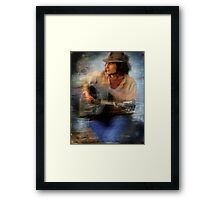 beach busker Framed Print