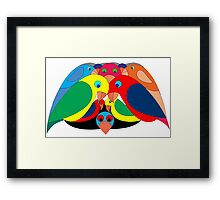 Colourful parrots Framed Print